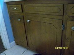 My Awful Bathroom Cabinets - Our house was a rental before we bought it. All the…