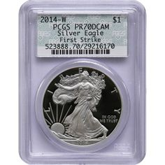 2014-W Silver American Eagle PR70 DCAM FS PCGS Vintage Doily Label