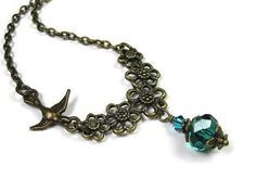 From jewelrybyNaLa ... https://www.etsy.com/jewelrybyNaLa/listing/210702296/teal-green-swarovski-crystal-czech-glass