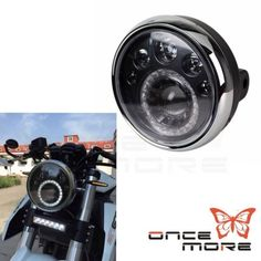 """56866 motorcycle-parts Motorcycle LED Headlight 7"""" Inch For Motorcycle Classic Cafe Racer Bobber  BUY IT NOW ONLY  $100.79 Motorcycle LED Headlight 7"""" Inch For Motorcycle Classic Cafe Racer Bobber..."""