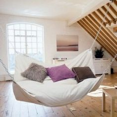 Indoor hammock!  Thatd be awesome for a reading nook :)