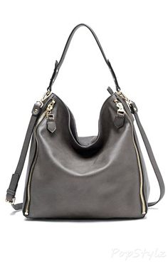 Tosca Side Zippered Hobo Handbag