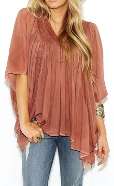 West Coast Wardrobe Womens Just a Dream Square Cut Top in Dusty Rose