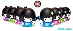 """House of Liu Contemporary Series - Full Case of 8 by Crazy Label. $95.95. Medium: Vinyl. Height: 3"""". Edition: Limited. Designer: Crazy Label & Veggiesomething. Long before the attack on the House of Liu by the Qing soldiers, Di Di and Mei Mei were playful little kids. We decided to remix them in a more contemporary style. Kawaii!    Each House of of Liu Contemporary figure is about 3 inches tall and comes in a fresh new look. There are 8 different designs with 2 se..."""