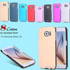 Make Your Own Cell Phone Case New Fashion Ultra Slim Aluminum Brushed Metal Brush Black Pc Hard Back Cover Case For Samsung Galaxy S6/S6 Edge Dhl Free Cell Phone Hard Cases From Mayiandjay, $1.39