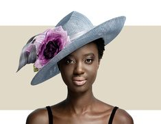 3264178c63594 GENTLE UPSWEEP HAT - Silver Grey with Purple - Gold Coast Couture Philip  Treacy Ladies Gentle