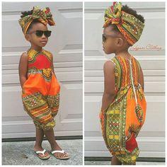 Cute #africanprint romper for kiddies