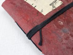Vintage Leather Journal made from genuine vintage leather that has been repurposed and adorned with old hindi script paper Leather Notebook, Leather Journal, Gift Of Time, Unique Presents, Graduation Gifts, Vintage Leather, Script, Repurposed, Journals