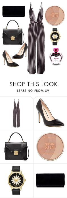 """""""Monochrome Mix"""" by anyaaa04 on Polyvore featuring Faithfull, Charles by Charles David, Alexander McQueen, Maybelline, Kate Spade and Moschino"""