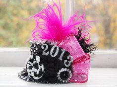 New Year's Top Hat  Mini Top Hat  Baby 2013 by LittleLadyAccessory, $24.00