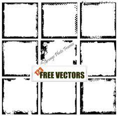 Grunge Photo Frames Free Vector