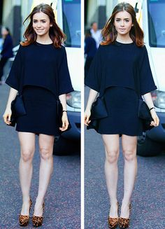 lily collins-continuing my style crush Best Casual Outfits, Club Outfits, Lily Collins Style, Outfit Trends, Outfit Goals, Celebrity Style, Celebs, Street Style, Style Inspiration