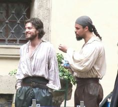 Athos & Porthos. Once again...a miraculous occurrence where Athos actually smiles!