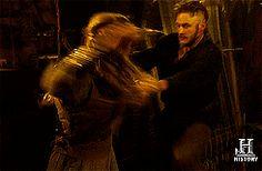 Lagertha & Ragnar having a combative disagreement - Vikings