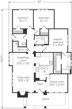 Bedroom Ranch House Plans With Den  Best House Design Ideas