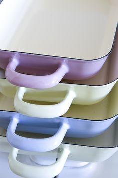 emaille ovenschaal lichtgroen Riess
