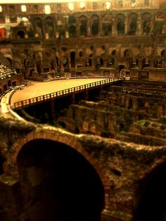 Colosseum in Rome, the largest amphitheatre of its time and a symbol of strength of the Roman Empire