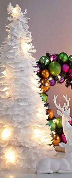 White Feather Christmas Tree