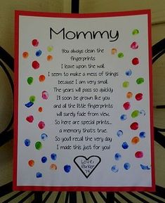 Mothers Day Crafts For Kids Preschool Cute Mothers Day Gifts, Mothers Day Crafts For Kids, Fathers Day Crafts, Mothers Day Cards, Valentine Crafts For Toddlers, Mothers Day Poems Preschool, Mothers Day Gifts Toddlers, Mum Gifts, Daycare Crafts