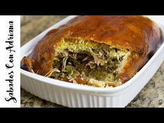 Cojín de Lechona Colombiana - Sabados con Adriana - YouTube My Colombian Recipes, Colombian Cuisine, Mexican Food Recipes, My Recipes, Cooking Recipes, Easy Weekday Meals, Meatloaf, Food To Make, Appetizers