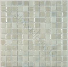 """tile option Absolut Glass  Pool, 1"""" x 1"""", Snowy, Glossy & Iridescent, White, Glass"""