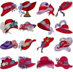 Vintage Ladies Hats Clip Art Clipart | Illustrations ...