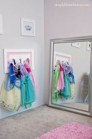 Dress Up Area Yellow Bliss Road: Princess Dressing Area (Little Girl's Room Details)