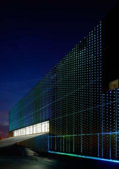 Illuminated Facade Design At Ystad Arena-Henning Larsen Architects