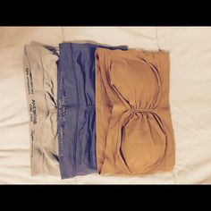 Seamless bandeau bras Never worn, one size, all three for 10 Intimates & Sleepwear Bandeaus