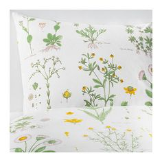 Ikea Strandkrypa Queen Duvet Cover Floral Pattern New