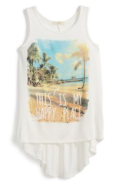Soprano+'This+Is+My+Happy+Place'+Graphic+High/Low+Tank+(Big+Girls)+available+at+#Nordstrom