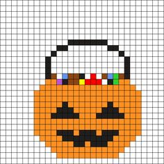 Halloween Candy Bag Perler Bead Pattern