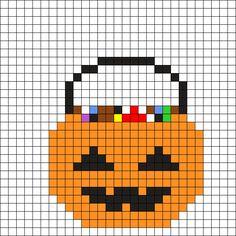 Halloween Candy Bag Perler Bead Pattern