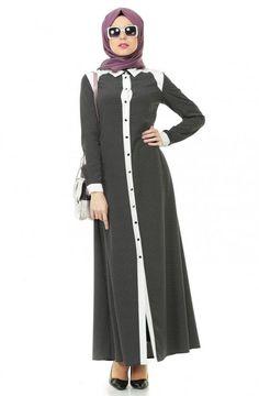 İpekdal Şömizye Yaka Elbise-Siyah 9240-01