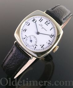 1920s 18ct gold cushion vintage Longines watch (3632)