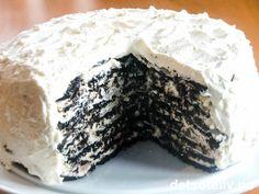 Oreo Icebox Cake (s. 208 i Det søte liv) Oreo Icebox Cake, Oreo Cake, Oreos, Celebration Cakes, Camembert Cheese, Almond, Food And Drink, Ice Cream, Sweets