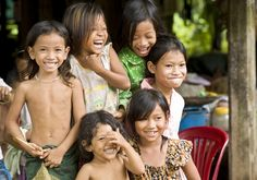 Cambodian Children Laughing