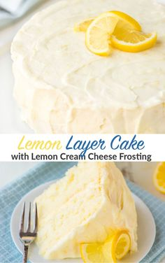 Supremely moist and flavorful Lemon Cake slathered with homemade Lemon Frosting. This is the ULTIMATE Lemon Cake! Best recipe I've ever tried. Bursting with lemon flavor, tender, and everyone loves it! #wellplated #cake #birthdaycake #recipe #baking