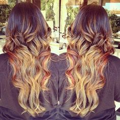 a mix of brunette, blonde and red