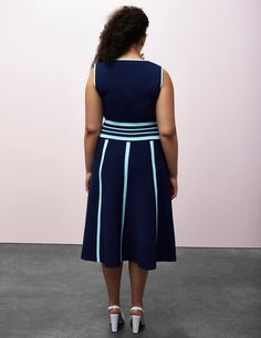Striped Fit & Flare Dress by Prabal Gurung