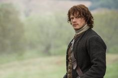 Still of Sam Heughan in Outlander (2014) | photo by Neil Davidson | Sony Pictures Television