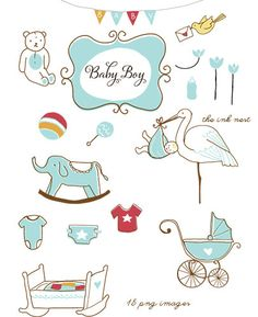 CLIP ART - Baby Boy - for commercial and personal use #party