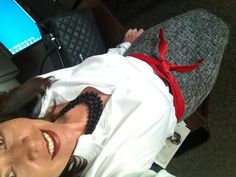 Happy Tuesday ladies!! My new black+white tweed shirt is a recent Marshall's find, the French cuff shirt you've seen before as well as the boots (it was in the 30s this morning, yikes!!) Red obi belt from The Limited and Target necklace is a repeat.