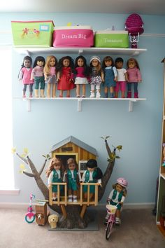my American Girl doll room