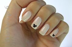 Micky mouse nails, simple and easy