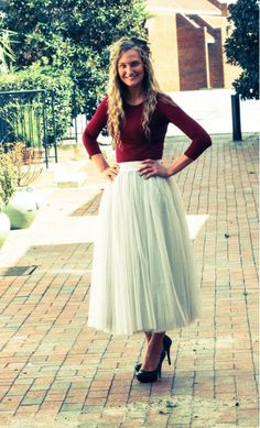 Womens midi length a-line tulle skirts available in khaki, black, charcoal S-L.