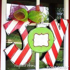 Christmas+JOY+can+add+personalization++Wood+by+TheWaywardWhimsy