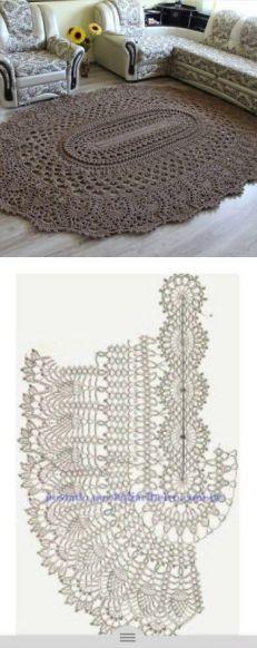 Шикарный коврик связанный своими руками - Все своими руками