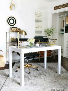 Check out Jeremiah Brent's office design for his management team – with amazing, clever use of Nate's latest collection.