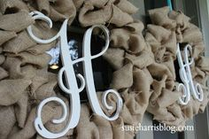 DIY:  Burlap Wreath Tutorial - burlap ribbon was pricy so this brilliant blogger cut  burlap fabric into strips & made this wreath. This is a great base for any season.